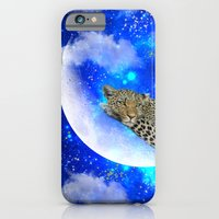 iPhone Cases featuring Relax in The moon by haroulita
