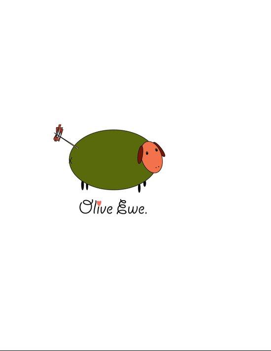 Olive Ewe. Art Print