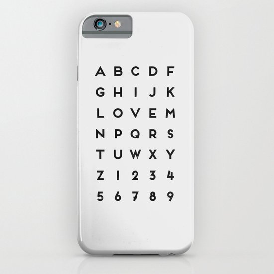 Letter Love - White iPhone & iPod Case