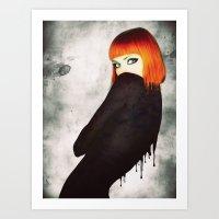 The Girl 5 Art Print