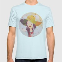 Picture Disc Mens Fitted Tee Light Blue SMALL