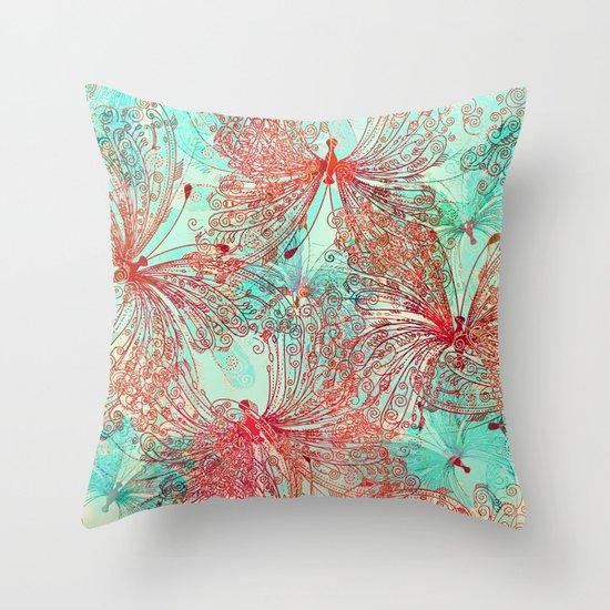 Butterfly Pattern Throw Pillow