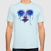 Blue Eyes Mens Fitted Tee Light Blue SMALL