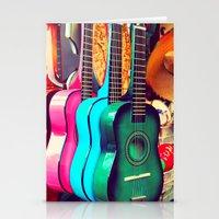 las guitarras. spanish guitars, Los Angeles photograph Stationery Cards