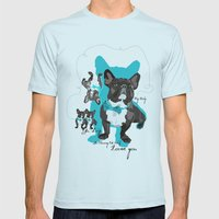 Chauncey Loves You - Fre… Mens Fitted Tee Light Blue SMALL
