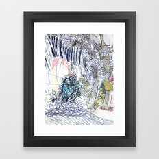 The Knight and The Dragon Framed Art Print