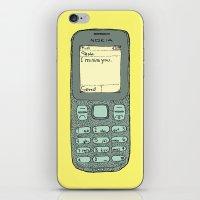 i miss you iPhone & iPod Skin