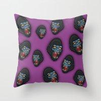 Gorilla Pattern Throw Pillow