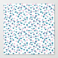 Triangles Blue And Pink … Canvas Print