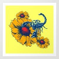 Scorpion Flowers Art Print