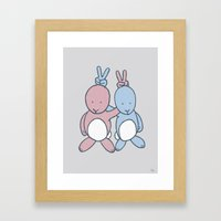 Bunny Ears Framed Art Print