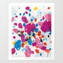 Fuchsia Physics Art Print