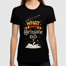 What Would Hermione Do? Womens Fitted Tee Black SMALL