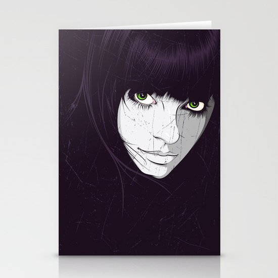 Green Eyes Stationery Card