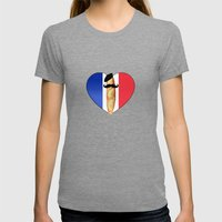 Monsieur Baguette Womens Fitted Tee Tri-Grey SMALL