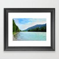 River Near Hopfgarten, A… Framed Art Print