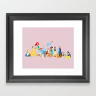 Princess Character And T… Framed Art Print