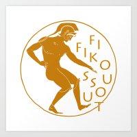 GREEK LOGO Art Print