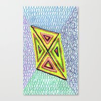 Canvas Print featuring JaJa's Kite by KATE KOSEK