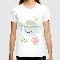 Coffee! Womens Fitted Tee White SMALL