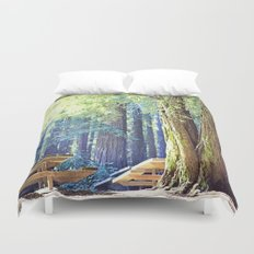 Picnic in the Woods Duvet Cover