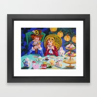 Tea With Hatter Framed Art Print