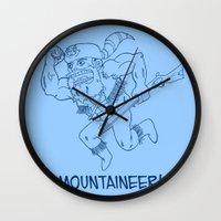 Mountaineer! (blue) Wall Clock