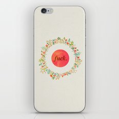 give a floral fuck iPhone & iPod Skin