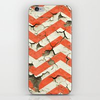 Peeling Chevrons Orange iPhone & iPod Skin