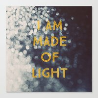 Made Of Light Canvas Print