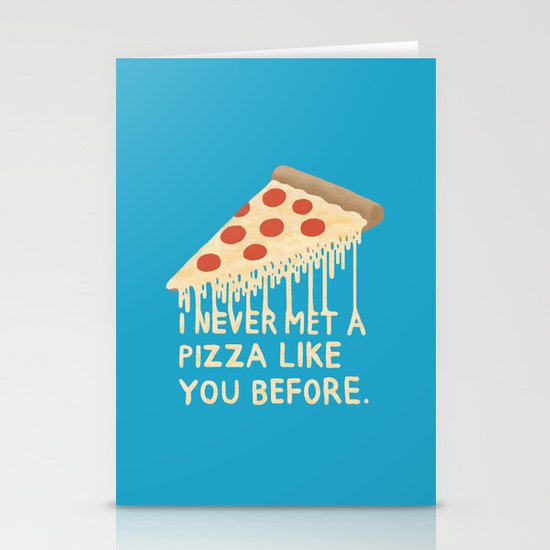 Sweet Pizza Stationery Card