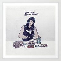 Glenn Danzig making a sandwich Art Print