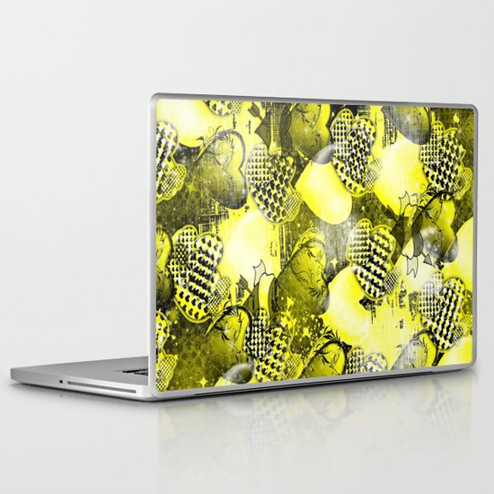 Light Bulb Hearts Series (yellow) Laptop & iPad Skin