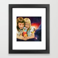 Framed Art Print featuring Exoplanet Cocktail by Eugenia Loli