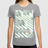 Wrong Way Street Womens Fitted Tee Tri-Grey SMALL