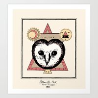 Follow The Owl Art Print