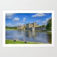 Leeds Castle Moat 2 Art Print
