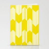 Yellow  Boho Arrows Stationery Cards