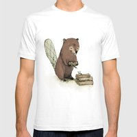 Beaver. Mens Fitted Tee White SMALL