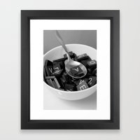 Alphabet Soup Framed Art Print