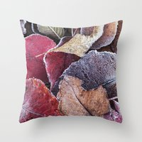 Frosty Ground Cover Throw Pillow