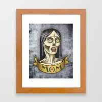 'Mom' Zombie Tattoo print Framed Art Print