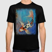 Sanke Butterfly Koi Mens Fitted Tee Black SMALL