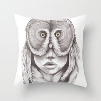 Owlhead Throw Pillow