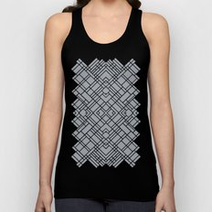Map Outline 45 Grey Repeat Unisex Tank Top