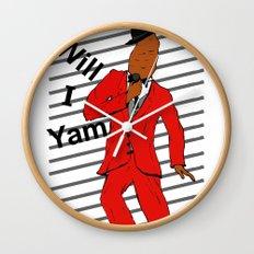 Will I Yam Wall Clock
