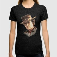 Clint Eastwood tribute Womens Fitted Tee Tri-Black SMALL