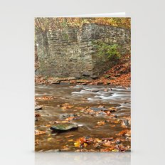 Rustic Fall Creek Stationery Cards