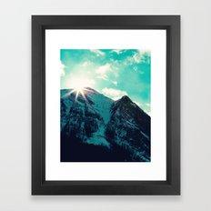 Mountain Starburst Framed Art Print