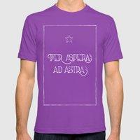 Per Aspera Ad Astra (bla… Mens Fitted Tee Ultraviolet SMALL